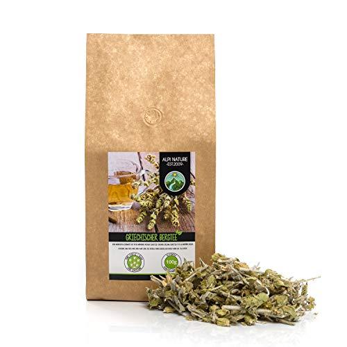 Griechischer Bergtee (100g), ganz, schonend getrocknet, 100% rein und naturbelassen zur Zubereitung von Tee, Kräutertee, Mursal Tee