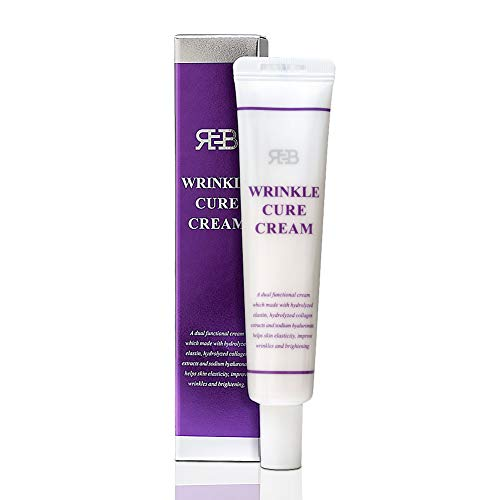 Night Cream For Face Anti Aging Wrinkle Cure Cream Neck Cream With Collagen Hyaluronic-Acid and Elastin. 0.84 fl. oz for all skin, improve skin elasticity