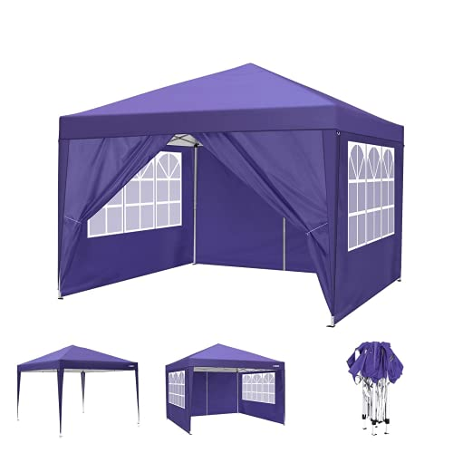 Pavillon 3x3m Wasserdicht Gartenpavillon Stabiles Partyzelt UV-Schutz Sonnenschutz faltpavillon mit 4 Seitenteile