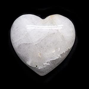 Cryolite Crystal Heart Carving