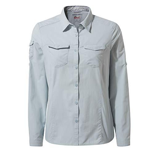 Craghoppers Damen Nl ADV Ls Shirt Hemd, Minerale Blu, 10