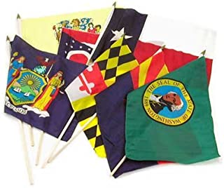 Online Stores State Flags, 12 by 18-Inch, Set of 50