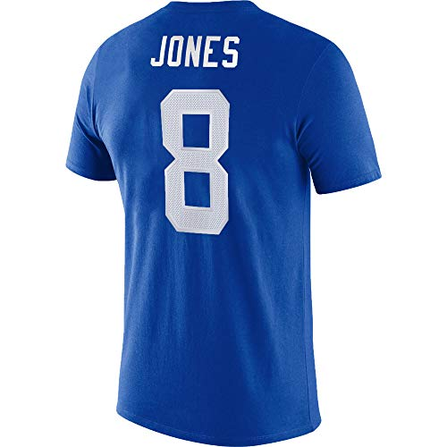 NFL Youth 8-20 Team Color Alternate Dri-Fit Cotton Player Name and Number Jersey T-Shirt (Youth - Large, New York Giants Daniel Jones Blue)