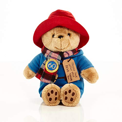 Paddington Bear with Scarf 60th Anniversary Edition - Cuddly Paddington Bear Teddy Soft Toy