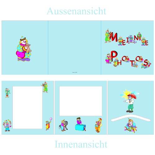 5 Stück Portraitmappen *Meine Photos* Fotomappe Portraitfotos Hoch+Querformat+Einstecktasche Bildermappe Fotoalbum Kindergartenmappe, Ausgabemappe, Foto