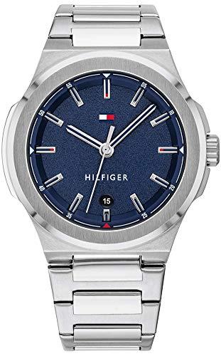 Tommy Hilfiger Reloj Analógico para Hombre de Cuarzo con Correa en Acero Inoxidable 1791648