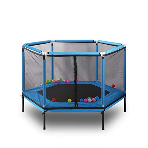 Jiamuxiangsi Kindertrampoline Trampoline Thuis Kinderen Indoor Bouncing Bed met Beschermende Cover Volwassen Fitness Trainingsapparatuur Bouncing Bed 6 Hoek Indoor trampolines