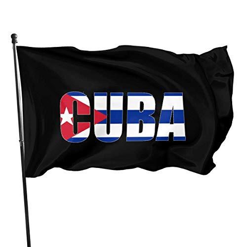 RFTGB Cuba Flag 3x5 Fuß Amerikanische US-Polyester-Flagge - Lebendige Farbe und UV-lichtbeständig - Leinwandkopf