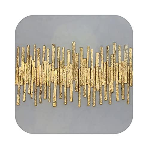 prints Póster abstracto dorado de lujo nórdico lienzo pintura decoración del hogar arte de la pared retro sala de estar vintage minimalista imagen O-30 x 30 cm 30 x 30 cm