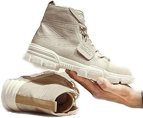 ANNMAX botas Martin para Hombre, Herramientas, zapatos, botas Militares Retro en botas Altas,C-43
