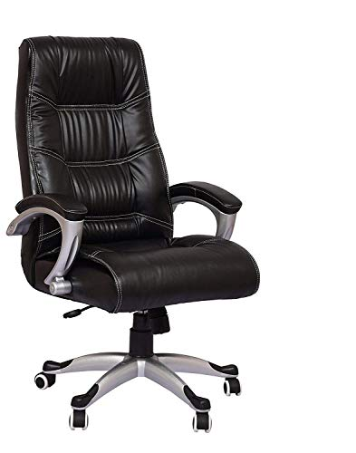 NICE GOODS Metal Leatherette High Back Arm Rest Swivel Executive Revolving Office Chair