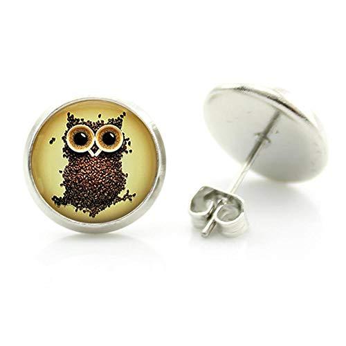 vintage yin yang tai art búho pendientes steampunk pájaros encantos encantador bebé búho mujeres joyería hecho a mano regalos
