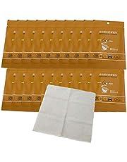 OUTEYE 20 Piezas toallitas antiniebla para Gafas Toallitas antivaho para anteojos Toallitas antivaho Paño antivaho