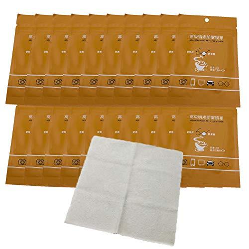 Vashye 20 unidades de paño antivaho para gafas de limpieza Nano antivaho, reutilizables, toallitas antivaho para gafas, reutilizables para gafas, cristales de ventanas, espejos retrovisores