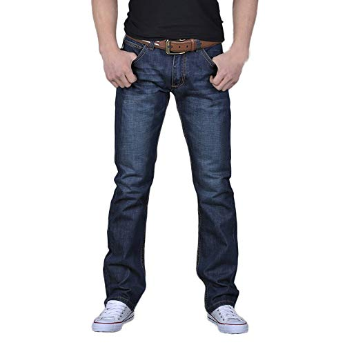 Xiangdanful Jeans,Herren Slim Fit Jeanshose,Skinny Stretch Designer Hose Denim,Männer Jeanshosen Freizeithose,Hip Hop,Loose Fit,Straight,Jungen Boot Cut Bootcut Jeans (34, Blau)
