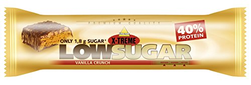 X-TREME Low Sugar Riegel , Vanilla Crunch, Display 24 x 65 g
