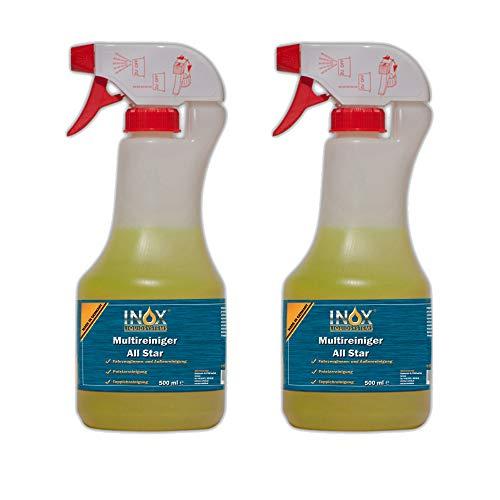 INOX® All Star Multireiniger, 2 x 500ml - Universalreiniger für Textilien, Polster und Kunststoffe
