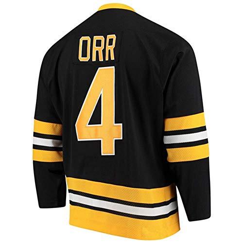 HEMWY Herren/Damen/Jugend_Bobby_Orr_#4_Schwarz_Sportbekleidung_Ausbildung_Eishockey_Jersey S-XXXL