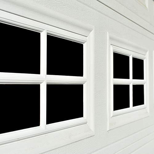 Garage Door Decorative Hardware 32-Packs (5.9x 3.93), 2 Car Large Door Faux Magnetic Windows All Season Weather Resistant Non-Fade PVC Small Panels Kits Easy Installation for Metal Garage Door