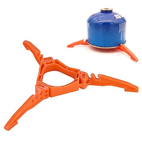 Sunlevo Foldable Outdoor Camping Hiking Cooking Gas Tank Stove Stand Cooking Gas Tank Canister Tripod Fuel Can Stabilizer for Camping Stoves