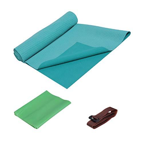 FrenzyBird Travel Dünne Yogamatte 1 mm für fortgeschrittene Yogis, rutschfest, leicht und kompakt nach dem Zusammenlegen, perfekt für Bikram, heißes Yoga, Pilates, Barre, Schweiß
