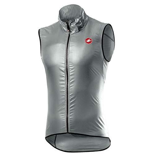 CASTELLI Aria Vest - Chaleco deportivo para hombre, Hombre, 4520057, Silver Gray, L