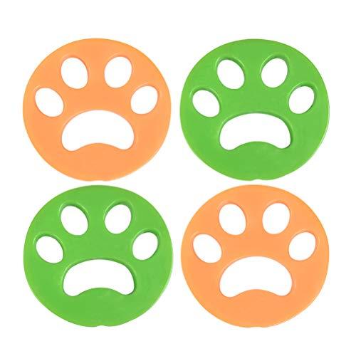 4 Stück Wäsche Haarentferner Tierhaarentfernung Haustier Wäsche Haarentferner Haarentfernungsbürste für Waschmaschine für Hundehaar, Katzenfell, alle Haustiere