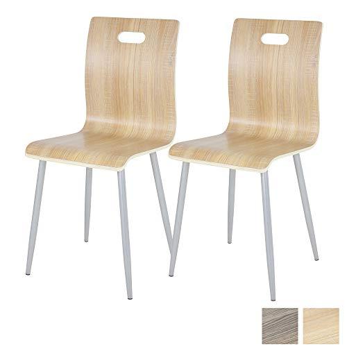 ALBATROS Esszimmer- und Küchenstuhl Turin, 2er Set, Eiche, aus Schicht-Holz