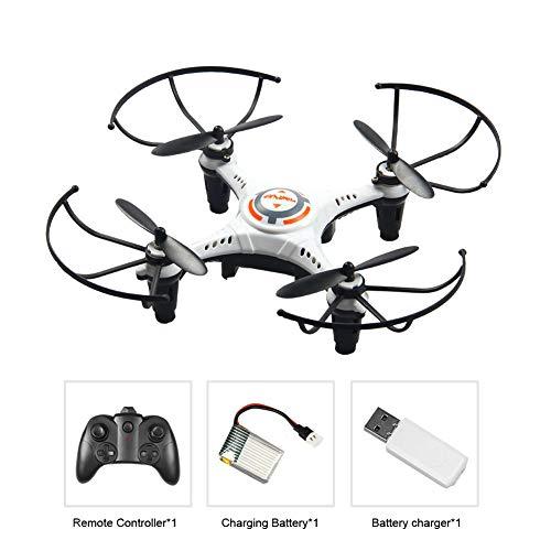 MCLseller - Mini dron RC cuadricóptero de 6 ejes, giroscopio de 2,4 G, 4 canales, sin cabeza, ruedas de 360 grados, entrenamiento de drones para niños y principiantes, Blanco