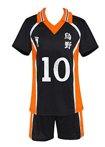 Xiao Maomi Haikyuu Karasuno High School Volleyball Uniform Hinata Shoyo Cosplay Costume Shirt Shorts (Small, 1(Shoyo))