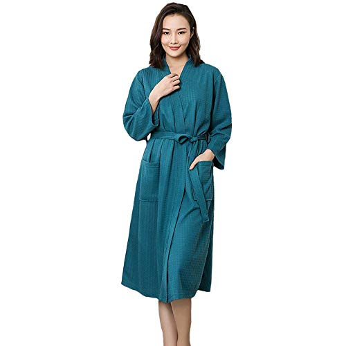 Generic Brands Tallas Grandes Kimono Albornoz Ropa de Dormir Larga Novia China Dama de Honor Bata de Boda Sexy camisón Dama Sólido Ropa de Dormir Bata de Mujer