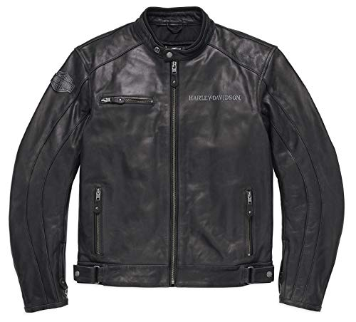 Harley-Davidson Reflective Skull Leder Jacke, 98122-17EM, XXL