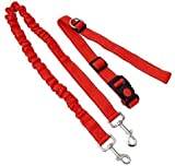 LANZHEN-RY Sportgeräte Fitness Haustier-Hundetraining New Adjustable Hände Leine mit Taillen-Gurt for Jogging Walking Laufen Sind rot Anti-Rutsch