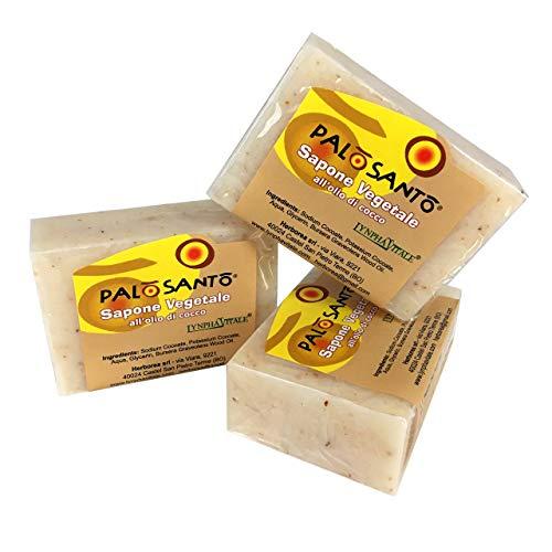 3 Savons Palo Santo à base d'huile essentielle - 3 x 100 gr - Tonique Energizzante Purificante Émollient