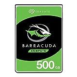 Seagate - Barracuda 500 GB, HDD, SATA, 6 Gb/s 5400 giri al minuto, 6,4 cm, 7 mm, 128 MB Cache BLK