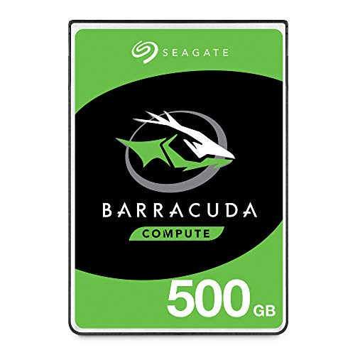 Seagate - Barracuda 500 GB, HDD, SATA, 6 Gb/s 5400 giri al minuto, 6,4 cm, 7 mm, 128 MB Cache BLK