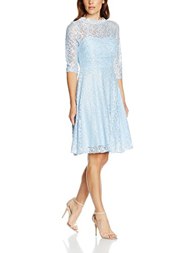 Intimuse Damen, Cocktail Kleid mit Spitzendetails, Blau (Eisblau 051), 42