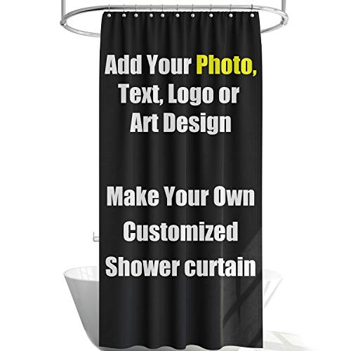Leif George Professional Custom Shower Curtain, Photograph, Image, Backdrop, Text, Logo, Add Your Own Designs Photo (48x72)