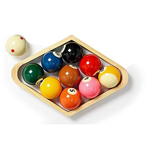 ZHTY 2 1/4 Zoll Ameican 9 Ball, Harz Flecken und Streifen Billardtisch Ball Set