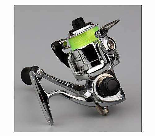 Alle metalen mini spinning wheel gapless micro vissen wiel mini compact hengelspoel, roterende hengelspoel, gemakkelijk te reinigen en te onderhouden, metalen handvat, overbrengingsverhouding 4.3: 1