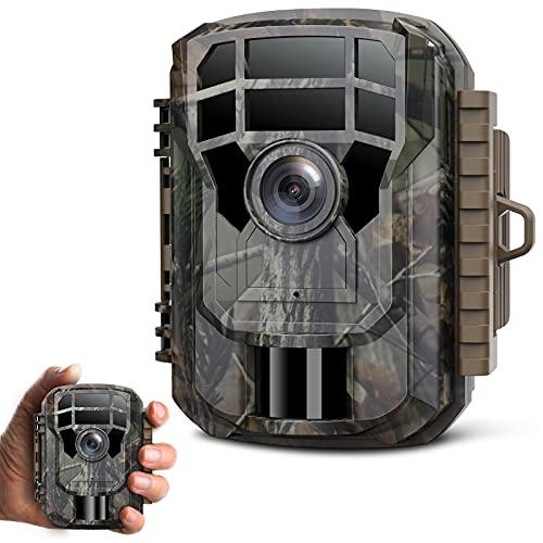 CAMPARKCAM Mini Wildkamera 16MP 1080P 850nm Leichtes Glimmen Nachtsicht Wildkamera mit Bewegungsmelder zur Beobachtung, Wildtierkamera mit IP56 Wasserdicht