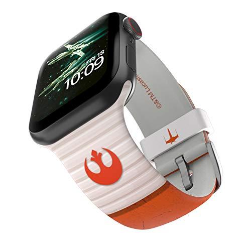 Star Wars - Banda para reloj inteligente Rebel Classic - Licencia oficial, compatible con Apple Watch (no incluido) - Se adapta a 38 mm y 40 mm