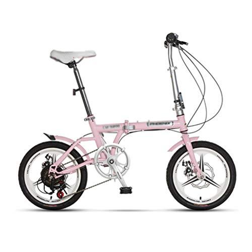 Paseo Bicicleta Bicicleta Plegable Amortiguador de Velocidad Variable Portátil Vehículo recreativo Urbano...
