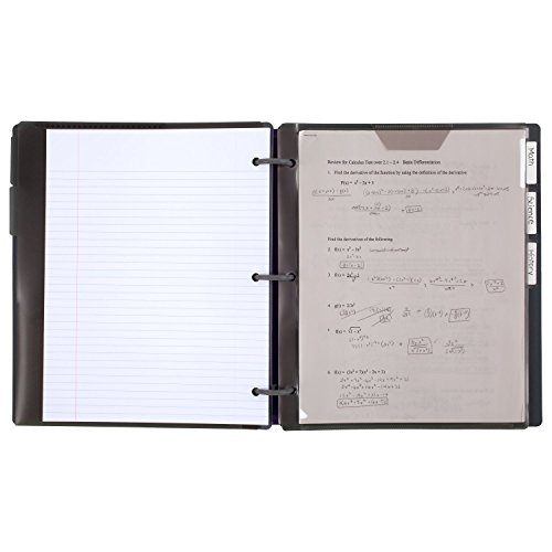 Five Star Flex Hybrid NoteBinder, 1 Inch Binder with Tabs, Notebook and 3 Ring Binder All-in-One, Geo (29148BQ7) Photo #8
