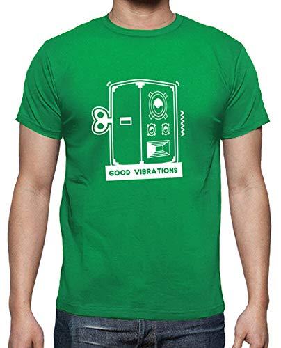tostadora - T-Shirt Gute Schwingungen - Manner Grasgrün S
