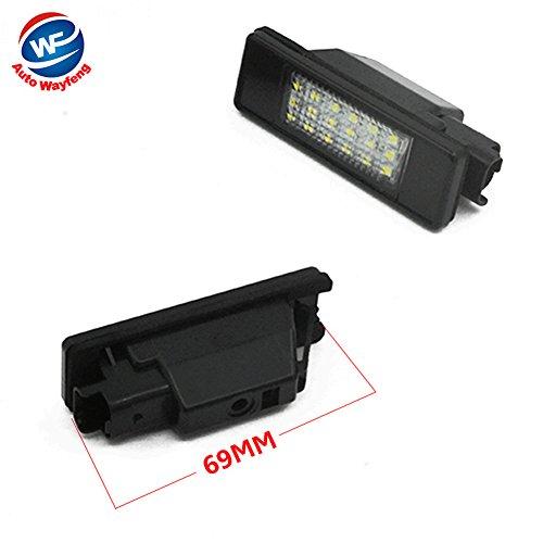 Auto Wayfeng WF® LED SMD Plaque d'immatriculation lumière pour Citroen C2 3D / C3 5D / C4 3D / C4 5D / C5 4D / C5 5D / C6 4D / C8 4D DS3 3D