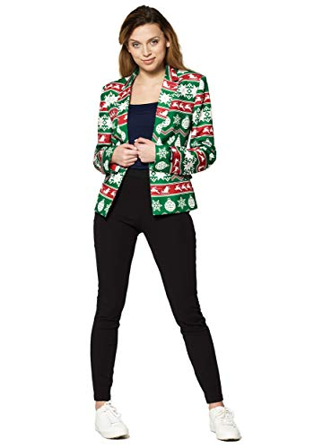 Suitmeister Women's Christmas Green Nordic Blazer (Large)