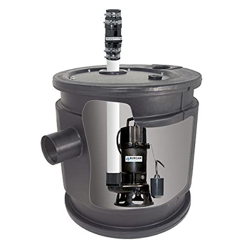 BURCAM 401447P 1.0 HP Complete Grinder Pump System with 24 x 24...