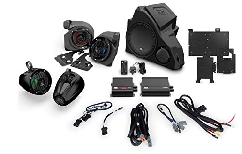 SuperATV MTX RZR-14RC-THUNDER5 Sound System   Fits Following Models with Ride Command: Polaris RZR XP 1000 / RZR XP Turbo/RZR XP Turbo S/RZR 900 (See Fitment)   5-Speaker System with Subwoofer