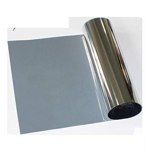 ZXL Vensterfolie Glasfolie Eenrichtingsperspectief Zilver grijs Spiegelsticker Wintertuin Balkonraam Explosiebestendige folie 120x100cm Infrarood afwijzing snelheid: 85% (afmeting: 100x100cm)